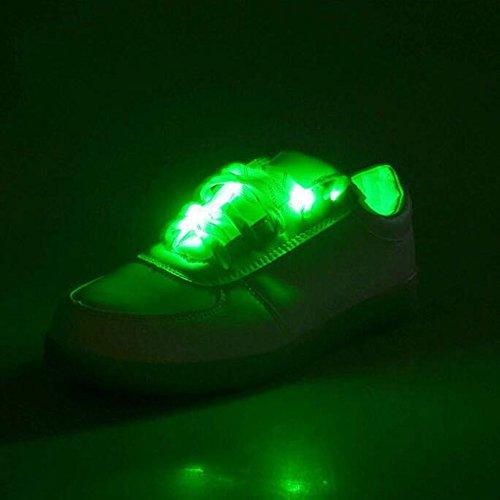 GG Sicherheit Lichter Licht LED Sportarmband bis Schnürsenkel Kompakte Größe für Camping/Wandern/höhlenerkundung Radfahren/Fahrrad Klettern outdoor-blue grün rot (Schnürsenkel Led-licht Bis)