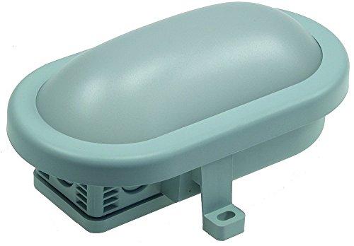 LED Oval-Armatur / Feuchtraum-Leuchte, 165x115x70mm, 5,5W, 450lm, 6500K / weiß