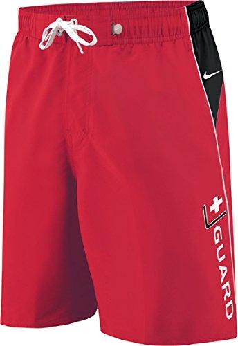 Herren Nike Swim Trunks (Nike SWIM Lifeguard Herren Volley kurz, Herren, VarsityRed)
