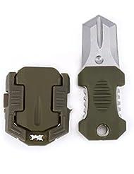JUNQL& edc Mini acero inoxidable molle correas hebilla auto herramienta de supervivencia defensa . green