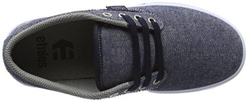 Etnies Kids Jameson 2 Eco, Chaussures de Skateboard Mixte Enfant Blue (Navy/Grey/White)