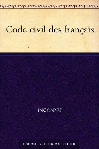 Couverture du livre Code civil des français