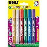 Uhu Glitzerkleber Creative Glue Original 6x10ml VE=6 Farben