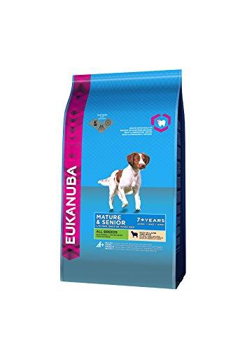 Eukanuba Hundefutter Senior für reifere & ältere Hunde aller Rassen - Trockenfutter mit Lamm & Reis, verschiedene Größen
