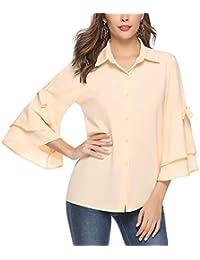 17045549d2 Amazon.it: Arancione - Bluse e camicie / T-shirt, top e bluse ...