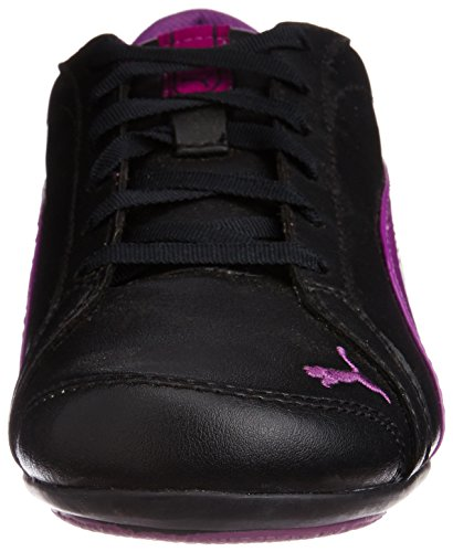 Puma Janine Dance, Baskets mode femme Black - Schwarz (black-sparkling grape 15)