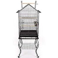 Pet's Solution Gabbia voliera pappagalli parrocchetti calopsite con Carrello trespolo
