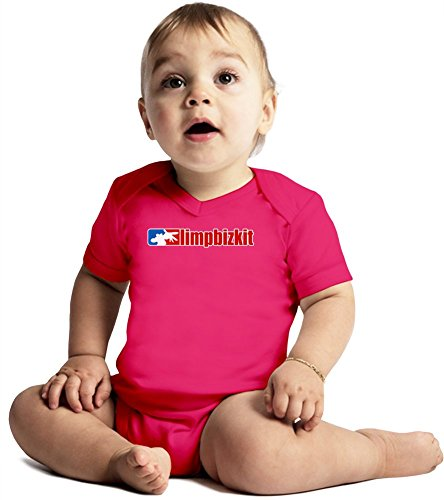 Limp Bizkit Logo Amazing Quality Baby Bodysuit by True Fans Apparel - Made From 100% Organic Cotton- Super Soft V-Neck Style - Unisex Design- Perfect As A Present 6-12 months