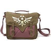 Legend of Zelda MB060223NTN - Bolsa bandolera con logotip Triforce, de tejido, color verde y púrpura