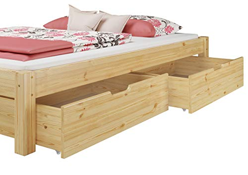 Erst holz letto matrimoniale futon in pino massello eco