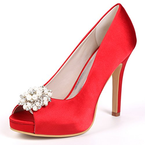 e95c3a043af9f L@YC Femmes Chaussures De Mariage Strass Talons Hauts Stiletto Prom  Taille/Plate-