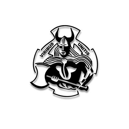 /Pegatinas-Vikingo con hacha viribus unitis pzbtl 383Nordmann Cuernos Casco 20X 19cm # a4287