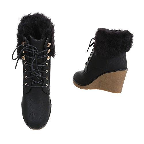 4421ab8a20e7 ... Sko utforming Offset Støvler Ital Og Svart Støvler Woman Kompensert  5AqSwpq