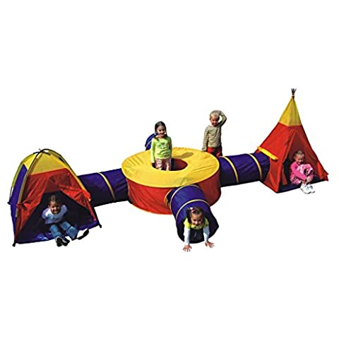 Boys Girls Large Play Tent Tunnel Set Childrens Kids Pop Up Indoor Outdoor by Boppi