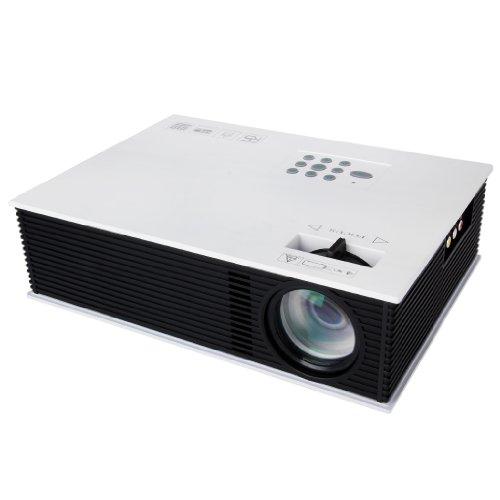 Excelvan UC80 1500 Lúmenes Proyector HD LED Multimedia Cine Teatro HDMI (800*600, VGA, USB, AV, ATV)