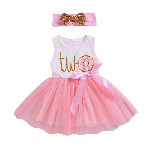 i-uend 2019 Baby Kleid-Kleinkind Mädchen Brief Bänder Bogen Tutu Rock Kleid Hairband Schwester Outfits Für 6-18Monate