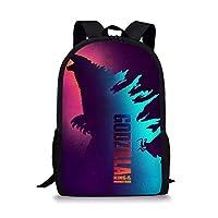 POLERO Godzilla School Bag Shoulder Polyester Backpack Monster Fans Gift for Adult Teen