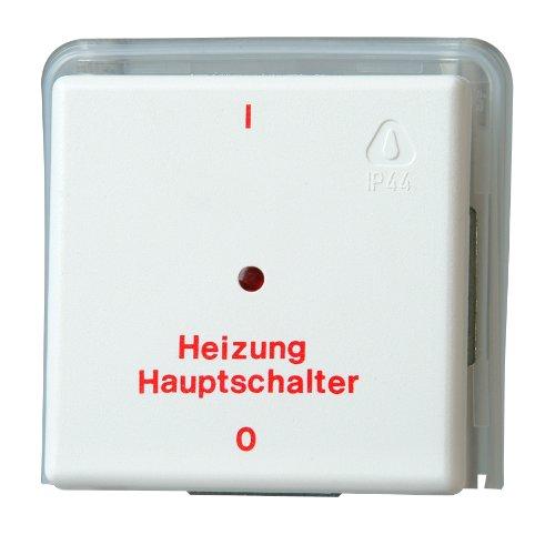 Kopp 627302086 Heizungshauptschalter Unterputz Feuchtraum, arktis -