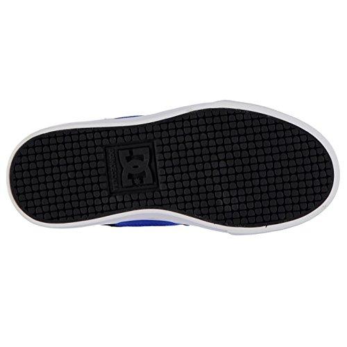 DC Kinder Jungen Blitz Skate Schuhe Turnschuhe Sneaker Freizeit Skateboardschuhe Schwarz/Grau/Blau