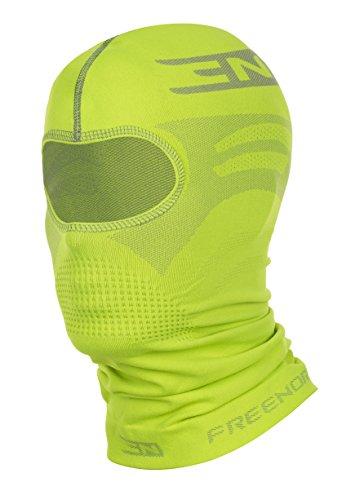 Preisvergleich Produktbild Freenord THERMOTECH EVO '33' Sturmhaube Gesichtshaube Skihaube Skimaske Kopfhaube Thermoaktiv Atmungsaktiv Skiunterwäsche Motorradunterwäsche - Ski - Motorrad (Lime,  S / M)