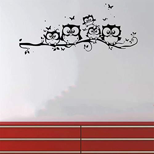 Spaß Aufkleber Wandbild Schwarz Ornament Hintergrund Wand Kindergarten Baby Tragbare Home Decor Repositionierbarer Mobile Owl Applique Kind Niedlich Owl Mobile