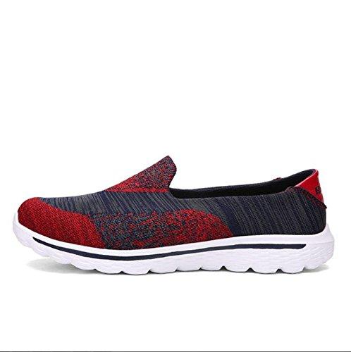 Hommes volent ligne chaussures tricotées, sports de plein air, des chaussures de loisirs chaussures pieds Red