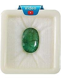 PRAJAPATIS Emerald Stone Original 6.25 Ratti Natural Certified Colombian Quality A1 Loose Precious Panna Gemstone