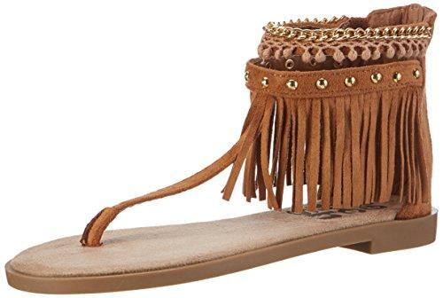 Refresh 63386, Spartiates femme Braun (Camel)