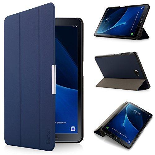 iHarbort® Premium Hülle für Samsung Galaxy Tab A 10.1 (SM-T580/T585) - Samsung Galaxy Tab A 10.1 hülle Etui Schutzhülle Case Cover Holder Stand mit Smart Auto Wake/Sleep-Funktion (Dunkelblau)