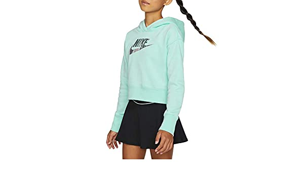 Nike FF Crop, Felpa Bambini, Teal Tint, XS: Amazon.it: Sport