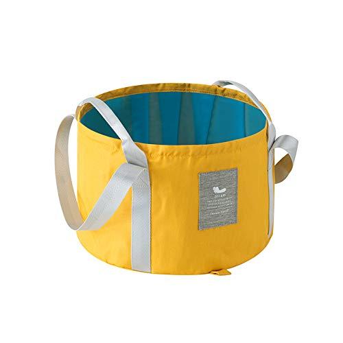 Chuan Rong Tragbares zusammenklappbares Waschbecken Reise-Luftpolsterbeutel große Waschwanne, Keine Tasche - gelb
