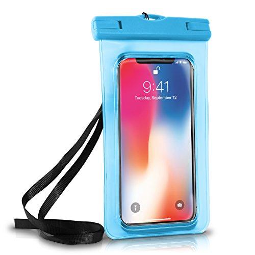 Wasserdichte Hülle iPhone Full Cover in Blau OneFlow 360° Unterwasser-Gehäuse Touch Schutzhülle Water-Proof Handy-Hülle für Apple iPhone X 8 7 7Plus/8Plus 6S 6 Plus 5 5S Case - Iphone Cover Wasserdichte 6 Handy