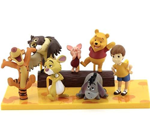 EASTVAPS 6 pcs Winnie l'ourson Jouet poupée Princesse Cadeau d'anniversaire décoration