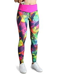 Formbelt® Pantalon running femme avec ceinture running / running-belt - pantalon de course / leggings yoga - sport - fitness | long, imprimé