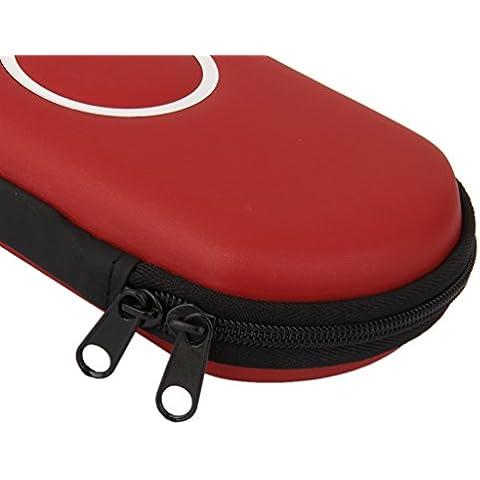 Caso Cubierta Bolsa de Juego Para SONY PSP 1000 2000 3000 Slim -Rojo