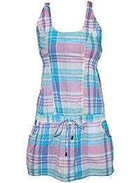 Freshmade Neckholder Sommer Kleid Gr.S Minikleid Strandkleid Longshirt türkis