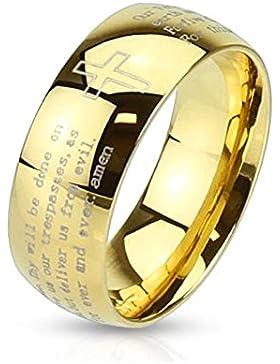 beyoutifulthings religiöser VATER-UNSER Band-Ring Chirurgenstahl 316L Verlobungs-Ring Partner-Ring Trau-Ring Gold...