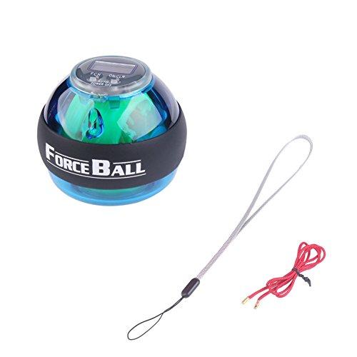 Phroboxl Gyro Ball LED Powerball giroscopio entrenador de muñeca y los antebrazos ejercitador brazo...