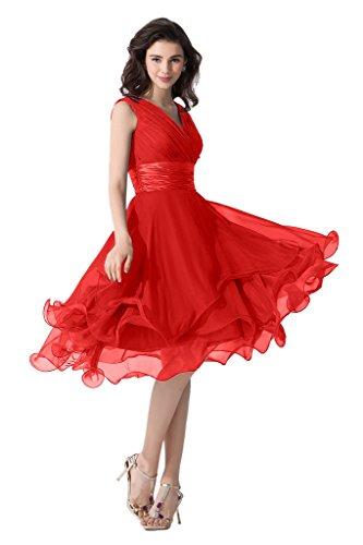 Victory Bridal -  Vestito  - linea ad a - Donna Rosso