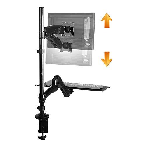 RICOO Sitz-Steh Monitorständer TS1211 für ca. 13