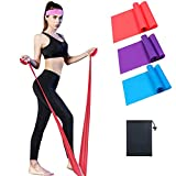 CondarTech Weerstandsbanden [Set van 3], Huidvriendelijke Weerstand Fitness Oefenlusbanden met 5 weerstandsniveaus voor benen en gluten, armen, fysio, pilates, yoga en kracht-draagtas inbegrepen