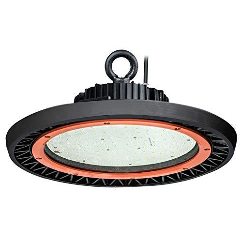 LED Hallenleuchte UFO High Bay Light 150 Watt 19000 Lumen 5500K kaltweiß für Industriebeleuchtung,Video-Drehs 3 Jahre Garantie