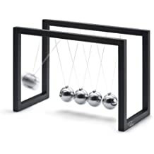 Philippi Ballance 193283 Newton's Cradle 16 x 8 x 11.5 cm Powder-Coated Chrome Metal Black
