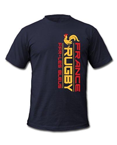 Cold Gun Frankreich Rugby Meisterschaft 7S World Rugby Sieben Serie T-Shirt Gr. XX-Large, Marineblau (Rugby-shirt Europäische)