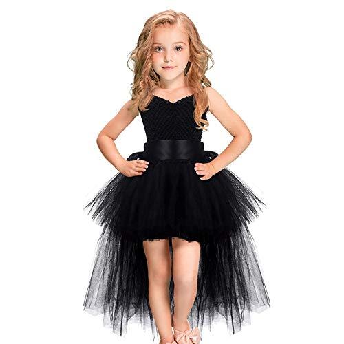 Wanshengjie vestito di halloween abiti da ballo abiti per bambini costume di halloween vestito da sera per ragazze tulle scollo a v abiti per feste di compleanno per bambini, 4t