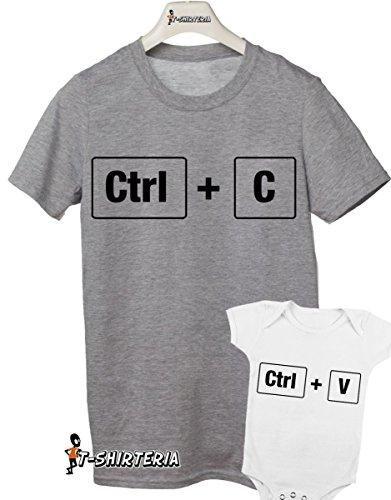 t-shirt e body festa del papà -Copia incolla- control C control V-tutte le taglie uomo donna maglietta by tshirteria