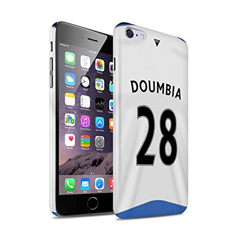 Offiziell Newcastle United FC Hülle / Glanz Snap-On Case für Apple iPhone 6+/Plus 5.5 / Pack 29pcs Muster / NUFC Trikot Home 15/16 Kollektion Doumbia