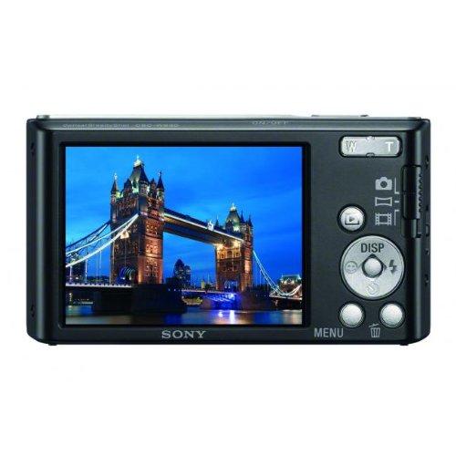 Sony DSC-W830 Digitalkamera (20,1 Megapixel, 8x optischer Zoom, 6,8 cm (2,7 Zoll) LC-Display, 25mm Carl Zeiss Vario Tessar Weitwinkelobjektiv, SteadyShot) schwarz