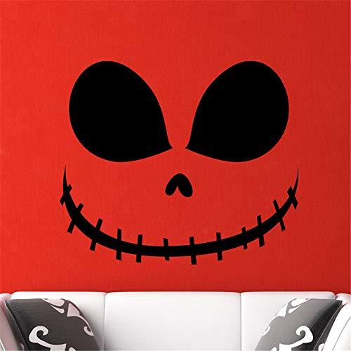 wandaufkleber kinderzimmer Gesicht Design mit genähtem Mund Halloween für Kinderzimmer Teen Zimmer