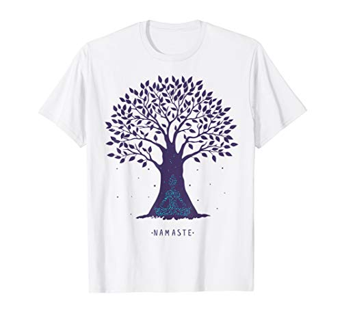 Yoga Namaste Tree Pose Zen T-shirt